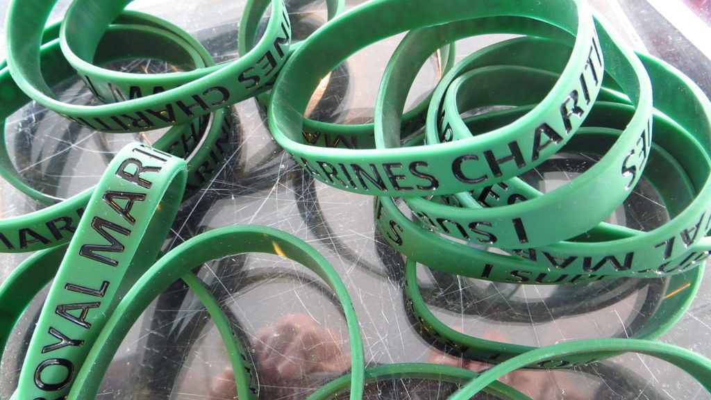 Royal_Marines_charity_wristbands_(13619628495)